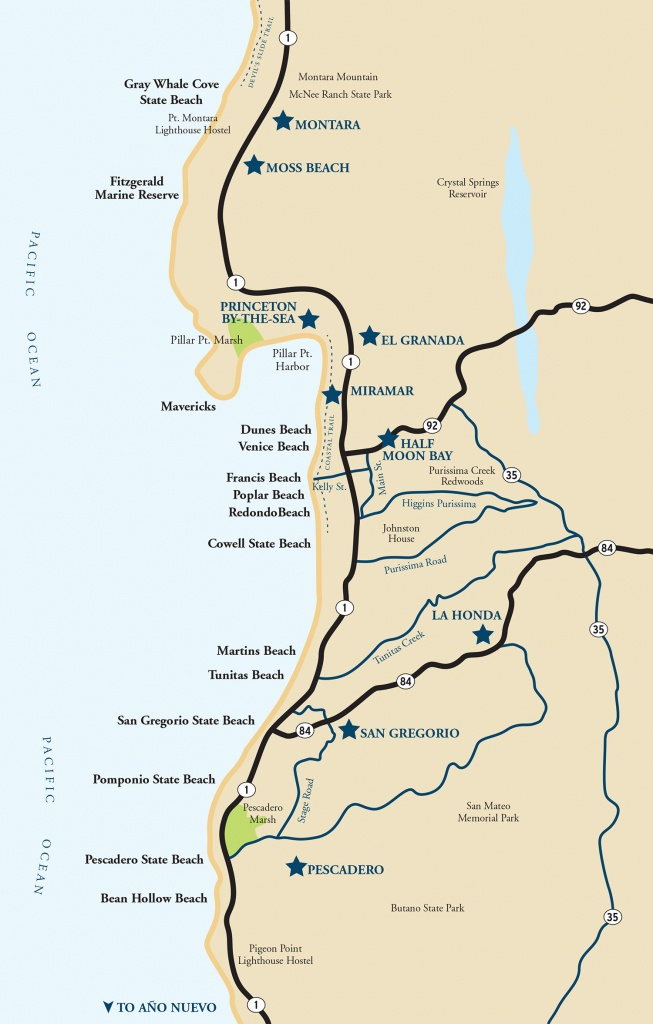 Map Of The Half Moon Bay Coastside | Visit Half Moon Bay - Seaside California Map