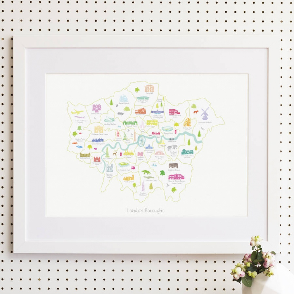 Map Of The London Boroughs Printholly Francesca - Printable Map Of London Boroughs