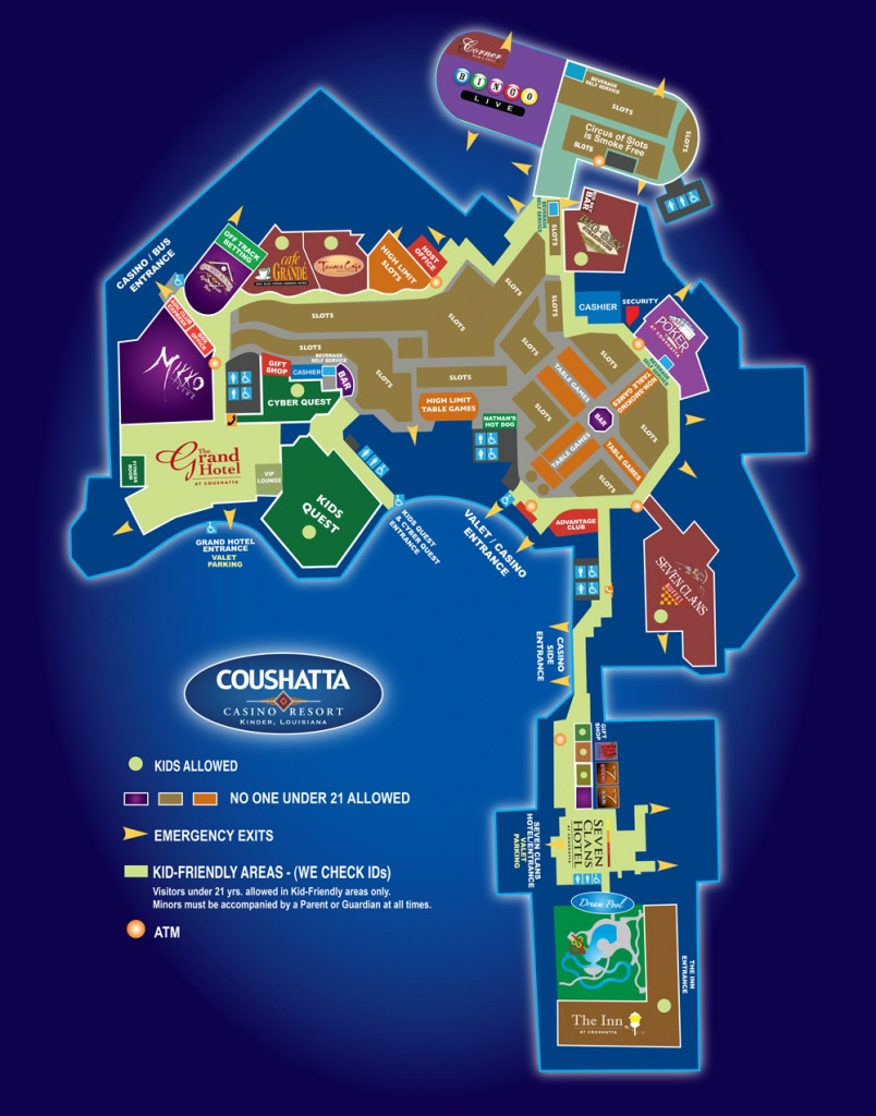 Map Of The Resort - Coushatta Casino Resort - Florida Casinos Map