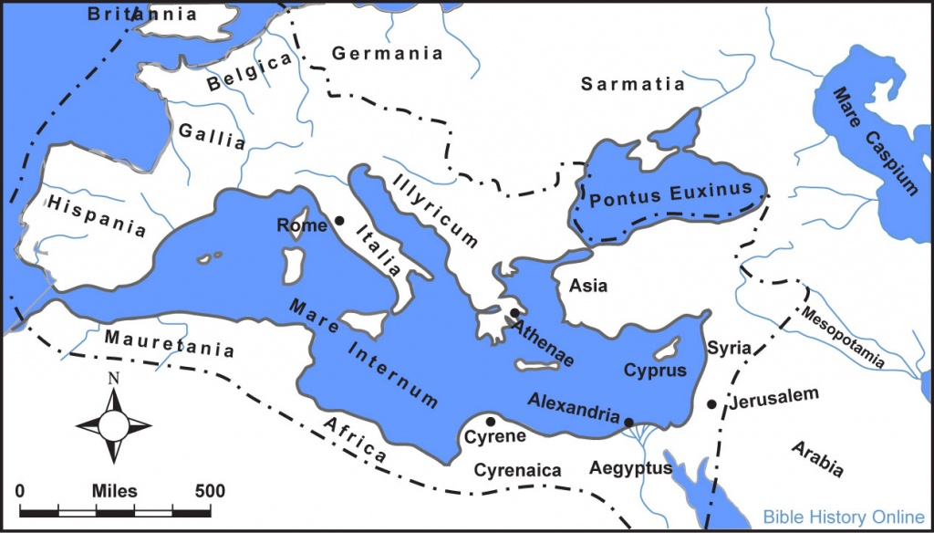 Map Of The Roman Empire In The Time Of Jesus (Bible History Online) - Printable Map Of Ancient Rome