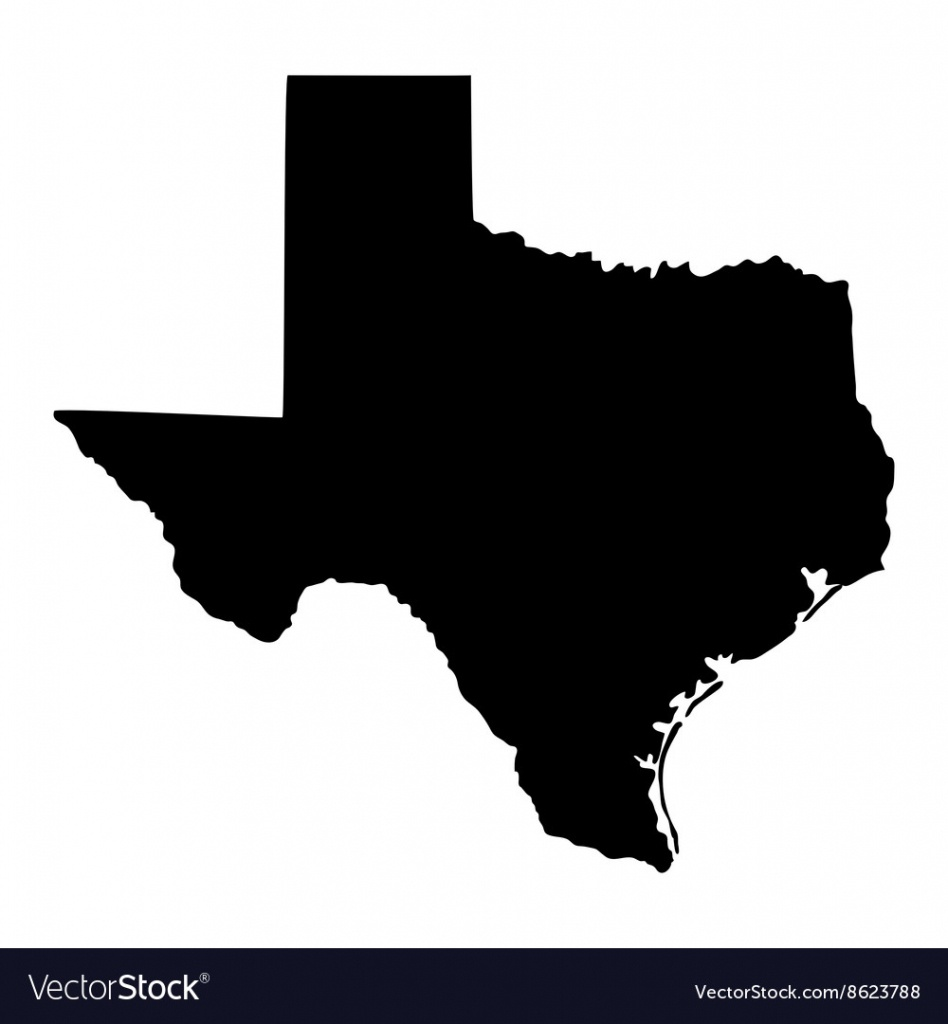 Map Of The Us State Of Texas - Texas Map Vector Free