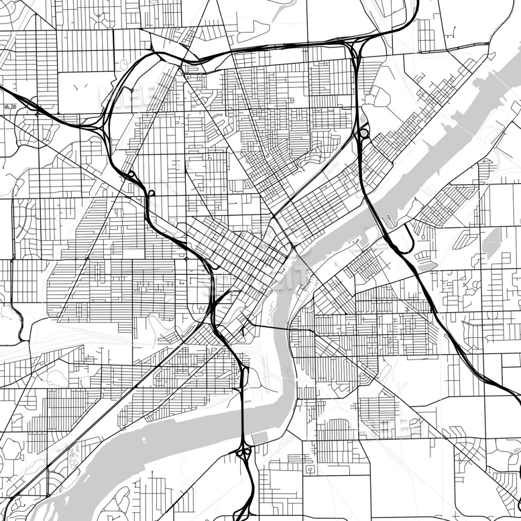 Map Of Toledo, Ohio   Hebstreits Sketches - Printable Map Of Toledo Ohio