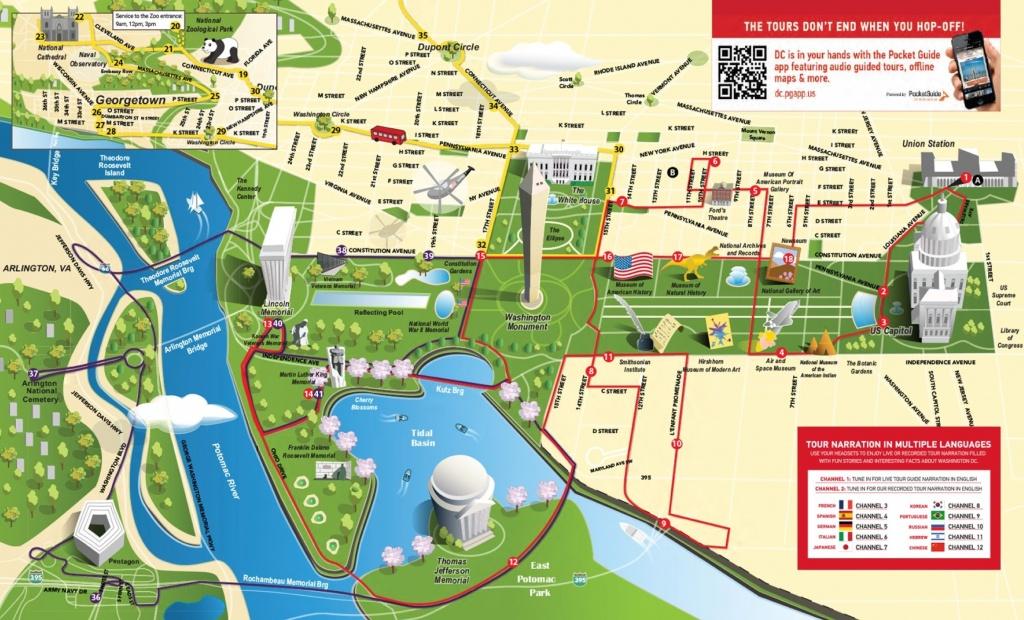 Map Of Tourist Attractions In Washington Dc Washington Dc Museum Map - Printable Walking Tour Map Of Washington Dc