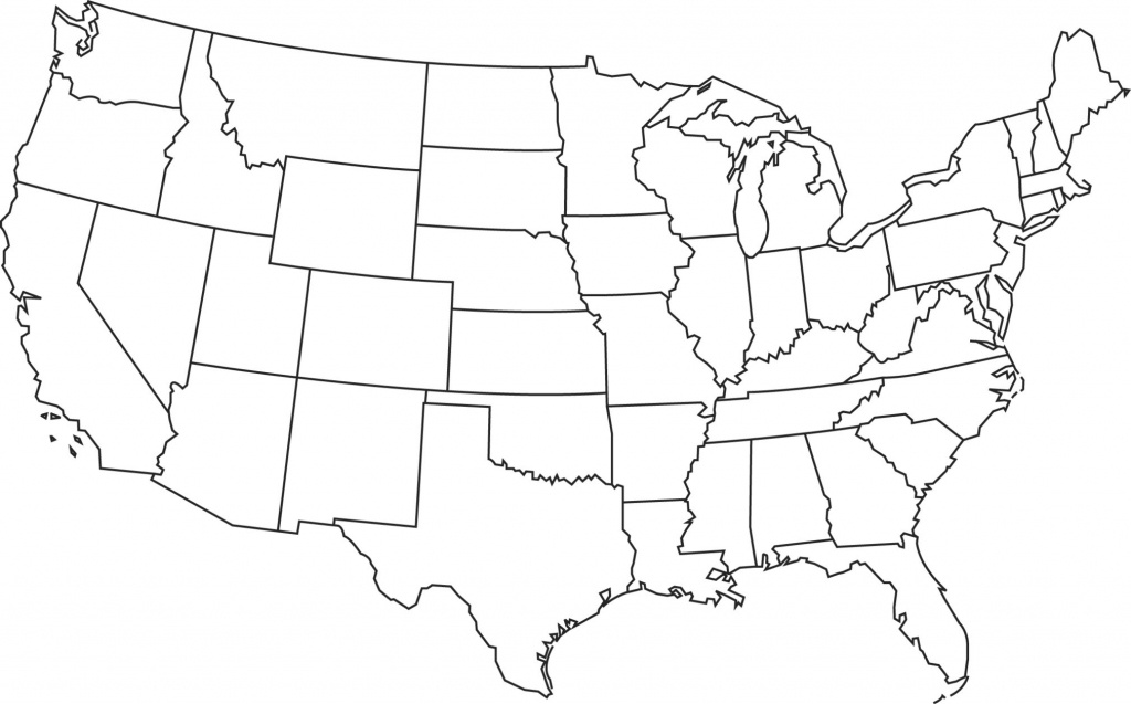 Map Of United States Blank And Travel Information | Download Free - Free Printable Blank Map Of The United States
