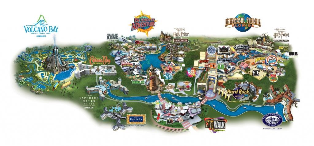 Map Of Universal City Walk, Universal Studios, Islands Of Adventure - Universal Studios California Map Of Park