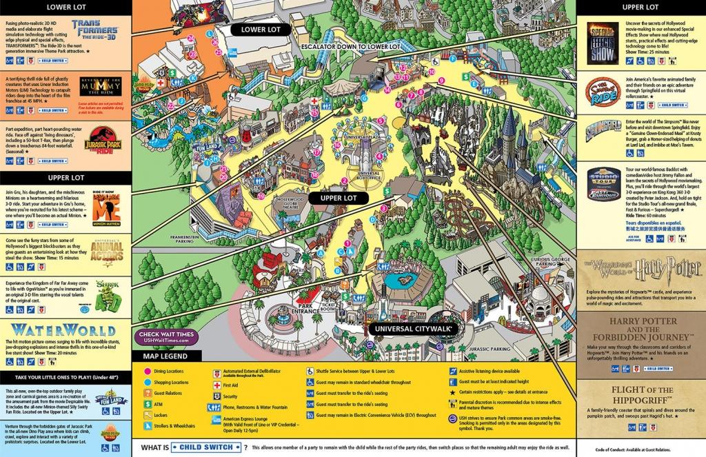 Map Of Universal Studios Hollywood | Compressportnederland - Universal Studios Map California 2018