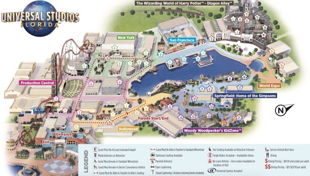 Map Of Universal Studios - Universal Parks Florida Map