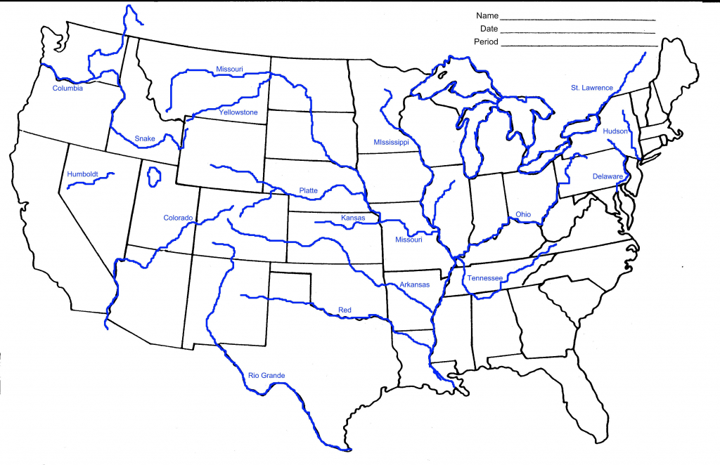 Map Of Us Rivers And States Usa Rivers Map Awesome 10 Awesome - Us Rivers Map Printable