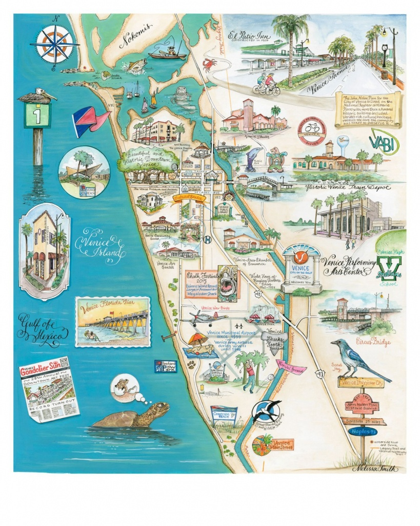 """Map Of Venice, Florida """"the Island Of Venice"""" In 2019 