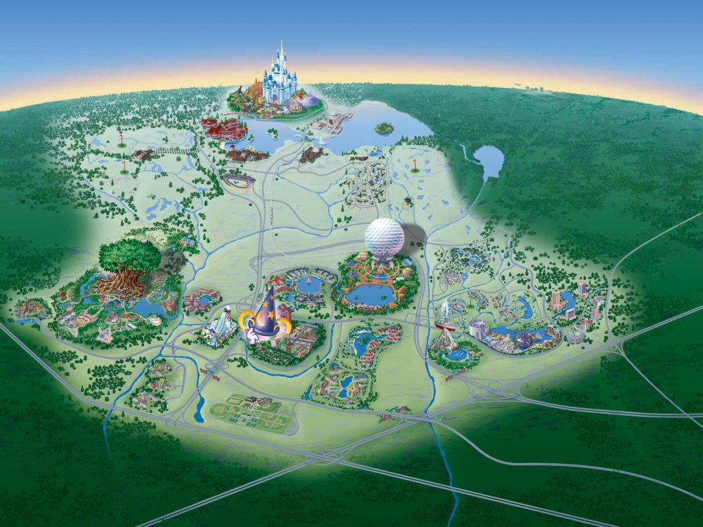 Map Of Walt Disney World Resort - Wdwinfo - Disney Florida Map