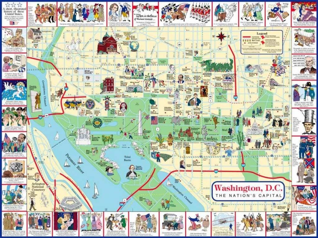 Map Of Washington Dc Tourist Sites - Washington Dc Map Of Tourist - Washington Dc Tourist Map Printable