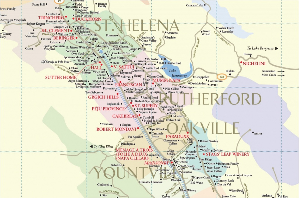 Map Of Wine Country In California Napa County Map Lovely Map - Napa Winery Map Printable