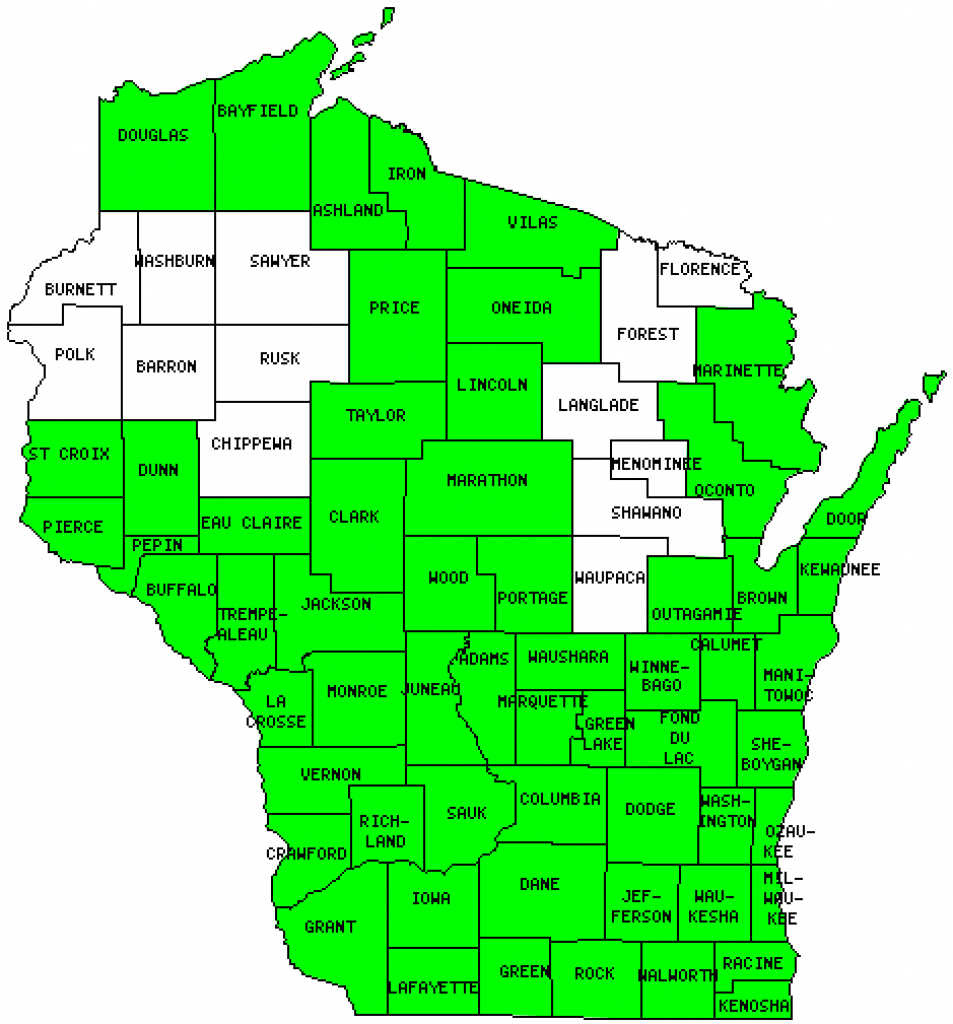 Map Of Wisconsin Counties | Sksinternational - Map Of Wisconsin Counties Printable