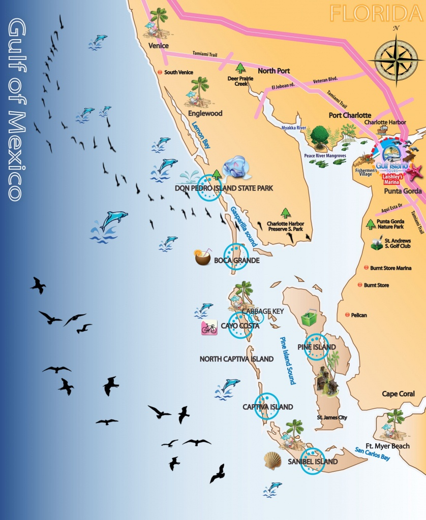 Map Out Your Next Vacation In The Florida Gulf! | Gulf Island Tours - Punta Gorda Florida Map