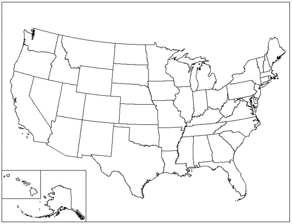 Map Printable United States Outl Blank - Berkshireregion - Map Of Us Blank Printable