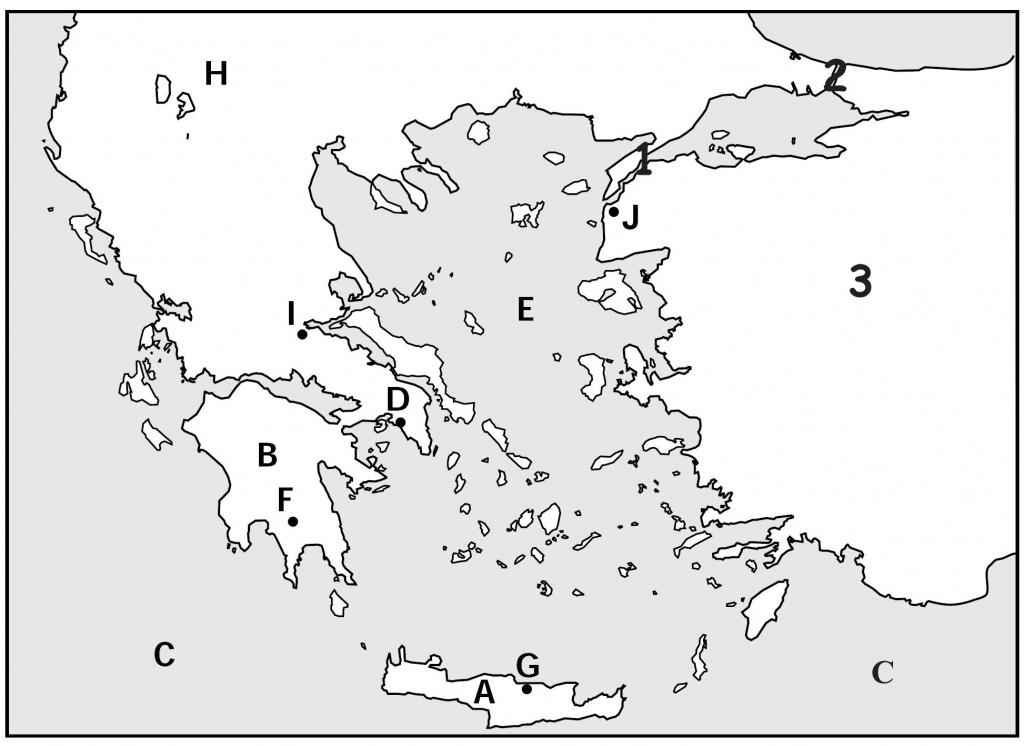 Map Quiz, Ancient Greeks For Kids | Homeschooling | Map Quiz - Outline Map Of Ancient Greece Printable