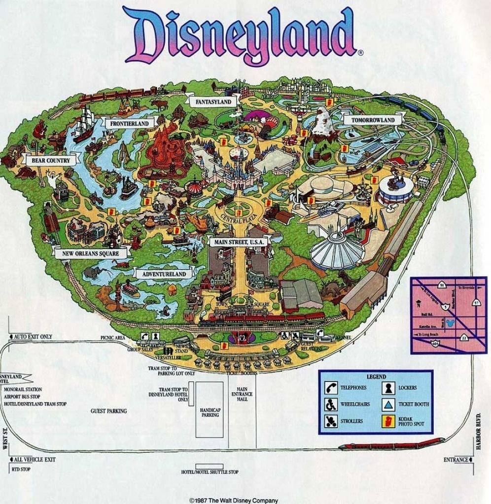 Map Reference. Disneyland California Maps – Reference California Map - Printable Map Of Disneyland California