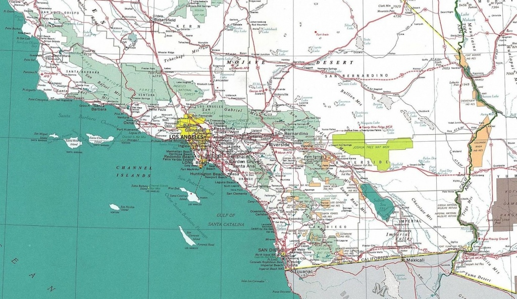 Map Reference. Large Map Of Southern California – Reference For - Large Map Of Southern California