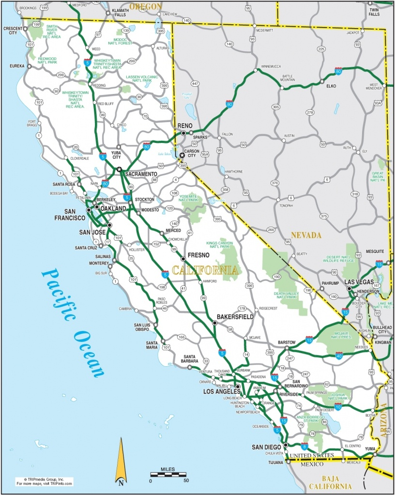 Map Reference. Road Map Of Nevada And California – Reference For Map - Road Map Of California And Nevada