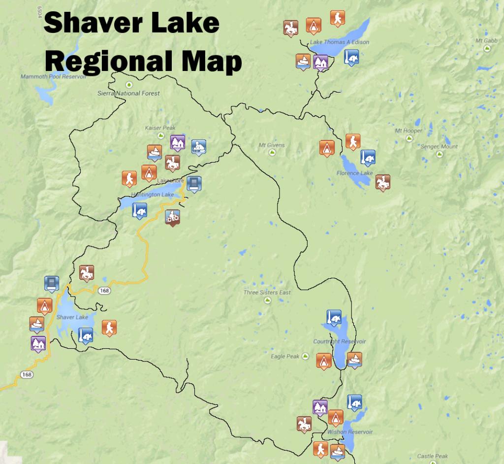 Map – Shaver Lake Visitors Bureau L Promoting California's Best Kept - Shaver Lake California Map