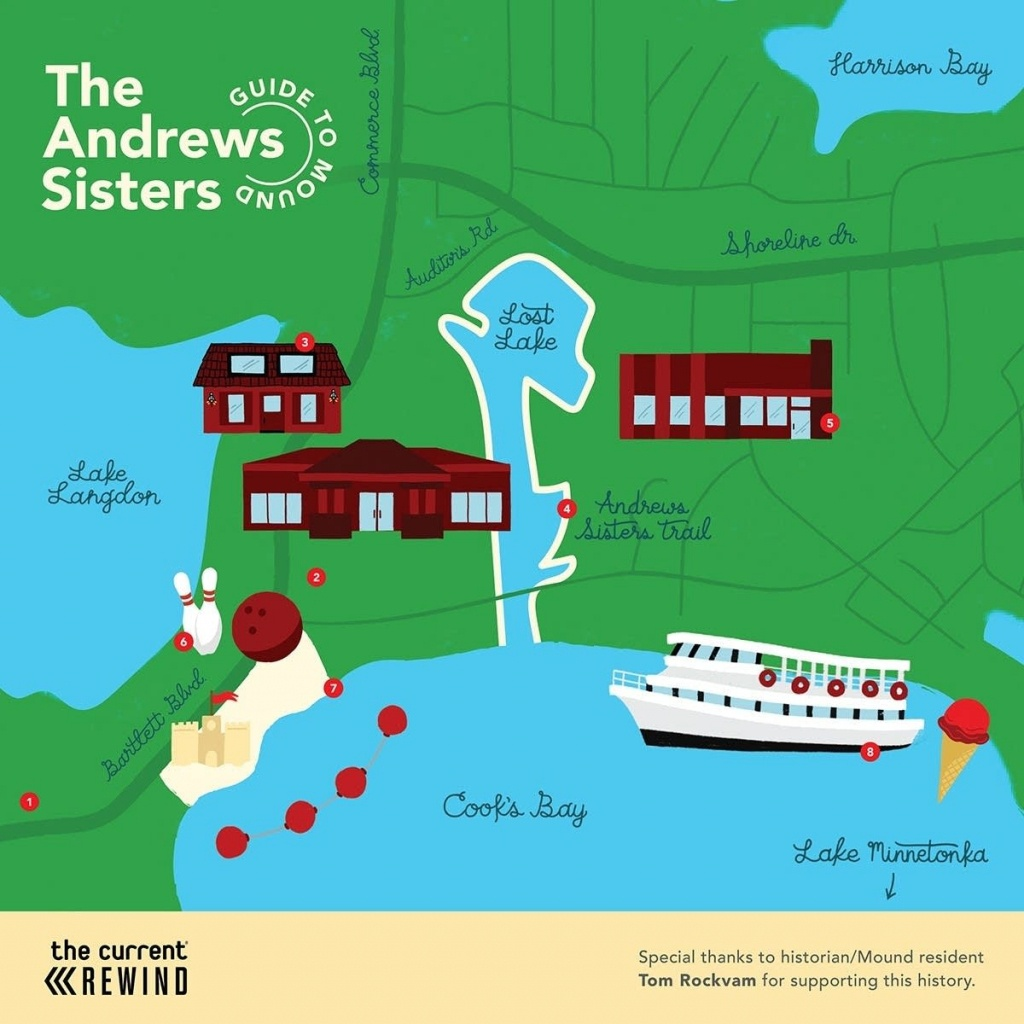 Map: The Andrews Sisters Guide To Mound, Minn. | The Current - Printable Lake Minnetonka Map