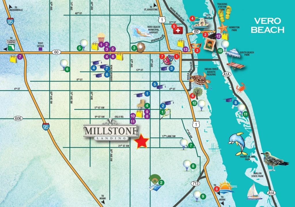 Map Vero Beach - The Most Beautiful Beach 2017 - Map Of Vero Beach Florida Area