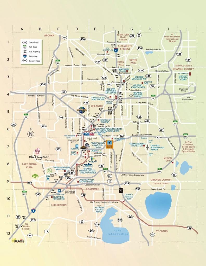 Mapa De Orlando | Viagem Dos Sonhos 1 | Orlando Tourist Attractions - Orlando Florida Attractions Map