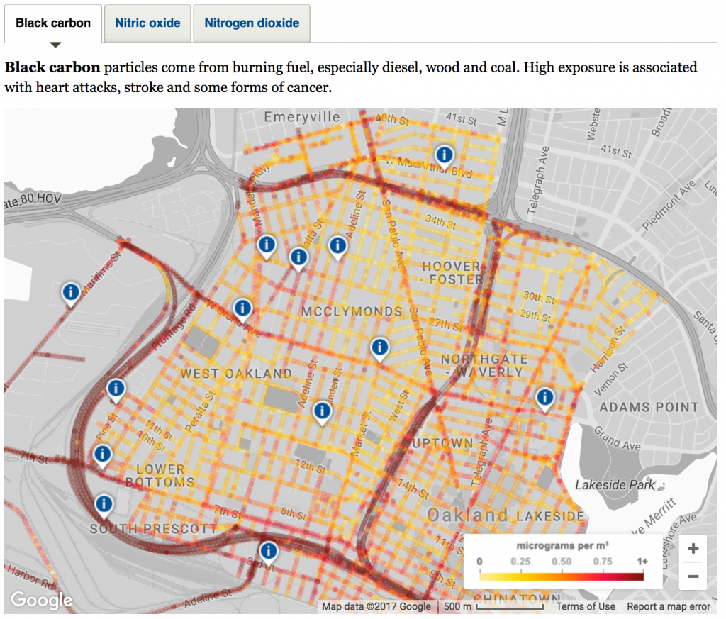 Mapping Air Pollution With Google Street View Cars - Apte Research Group - Texas Air Quality Map