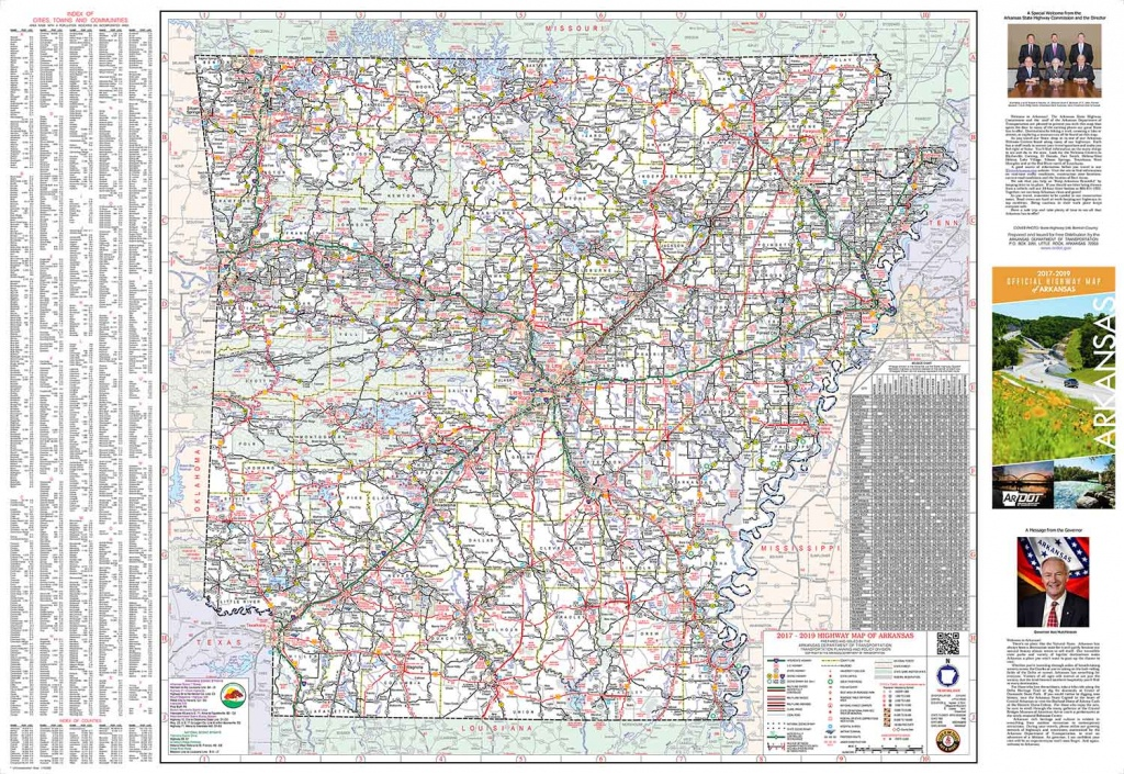 Mapping - Tourist Maps - Arkansas Road Map Printable