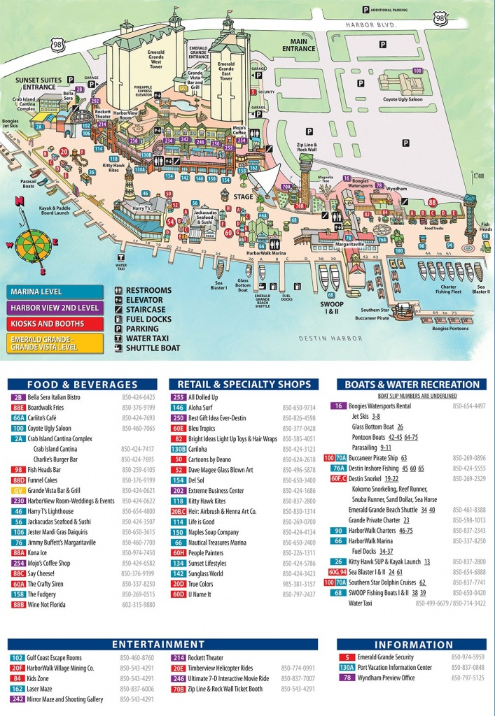 Maps And Directions | Emerald Grande Destin Vacation Rentals - Map Of Hotels In Destin Florida