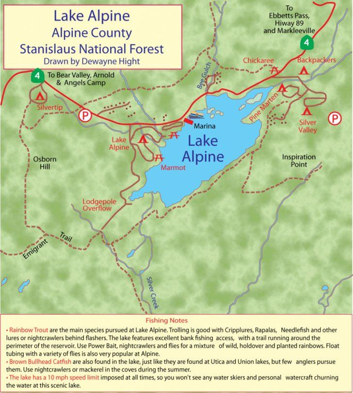 Bass Lake California Map