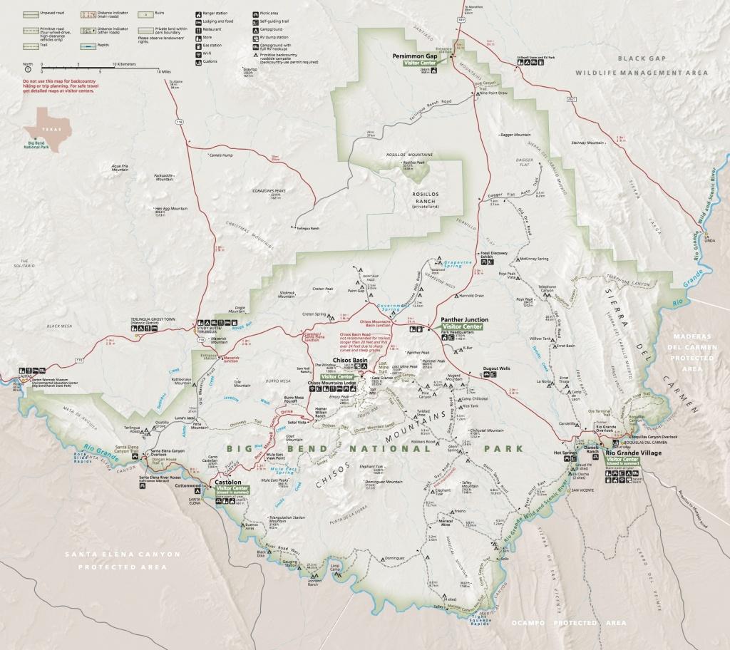 Maps - Big Bend National Park (U.s. National Park Service) - Florida Caverns State Park Map