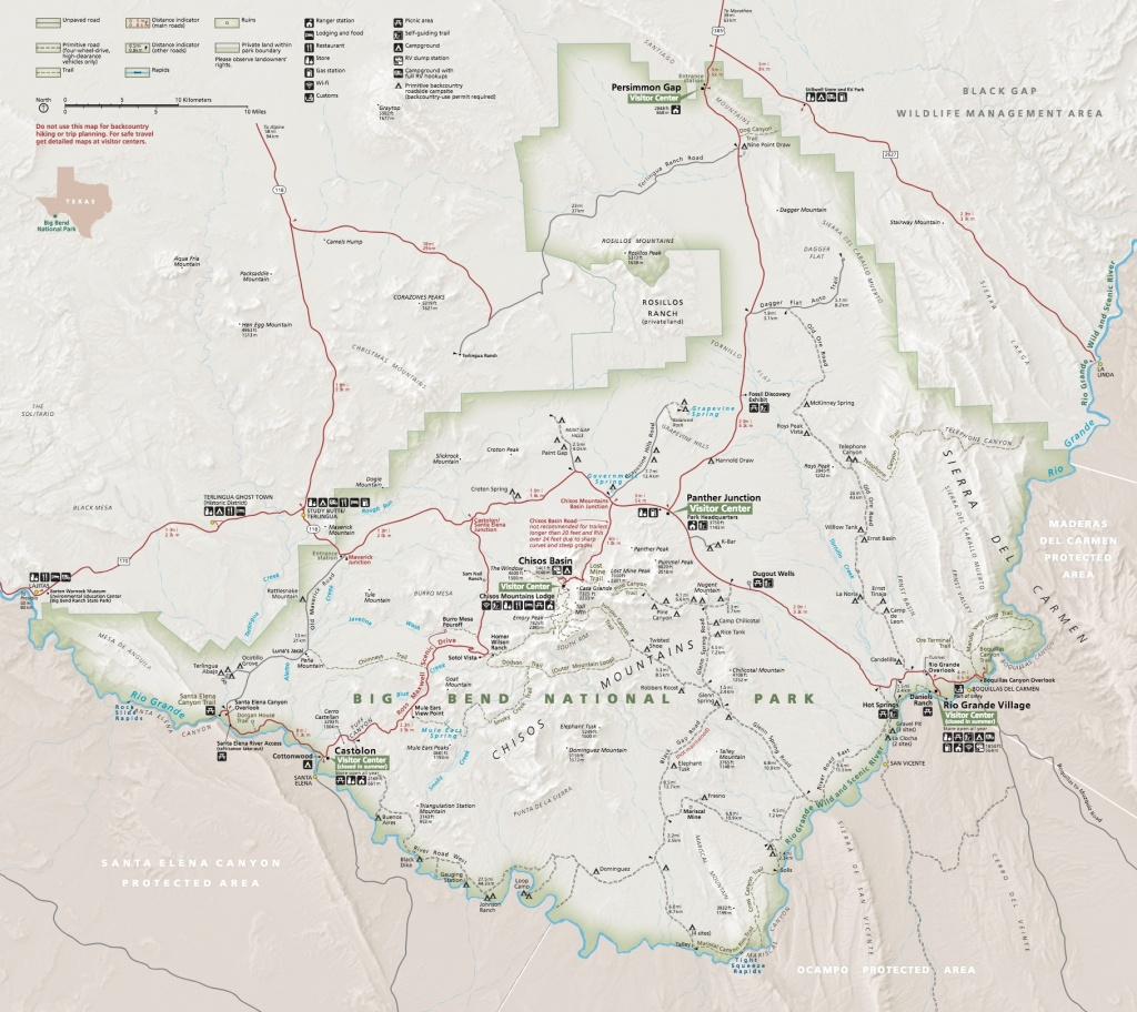 Maps - Big Bend National Park (U.s. National Park Service) - Texas Hiking Trails Map