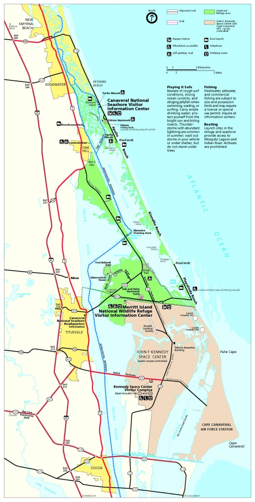 Maps - Canaveral National Seashore (U.s. National Park Service) - Map Of Florida Showing Apollo Beach