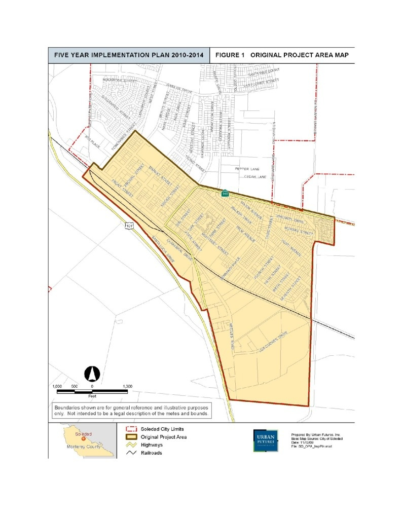 Maps & Commercial Property Listings – City Of Soledad - Soledad California Map