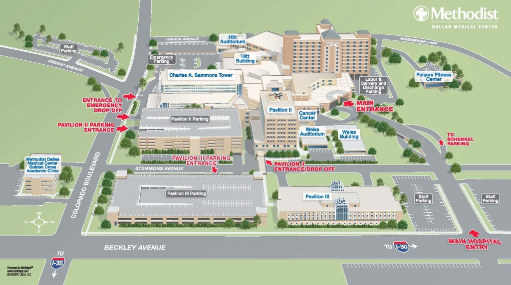 Maps & Directions | Methodist Health System - Texas Health Dallas Map