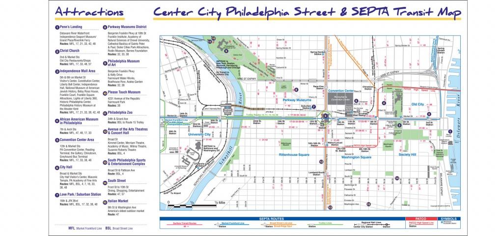 Maps & Directions - Philadelphia Street Map Printable