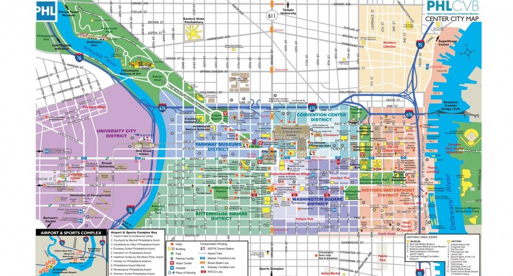 Maps & Directions - Philadelphia Tourist Map Printable