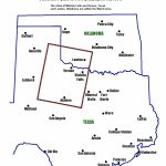 Maps, Figures And Diagrams Of The Red River Tornado Outbreak Of 10   Map Of North Texas And Oklahoma