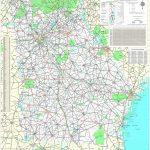 Maps   Georgia Department Of Transportation Highway Map 1999 2000 (3   Georgia Road Map Printable