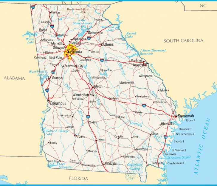 photo about Printable Maps of Georgia named high printable google maps Printable Maps