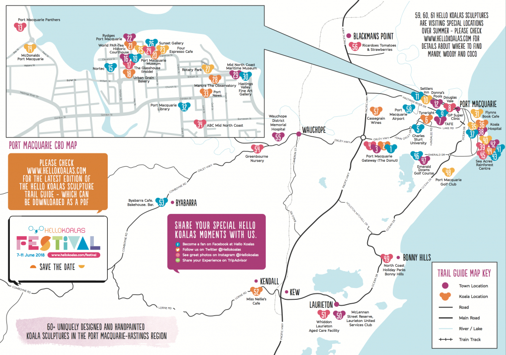 Maps – Hello Koalas - Printable Street Map Of Port Macquarie