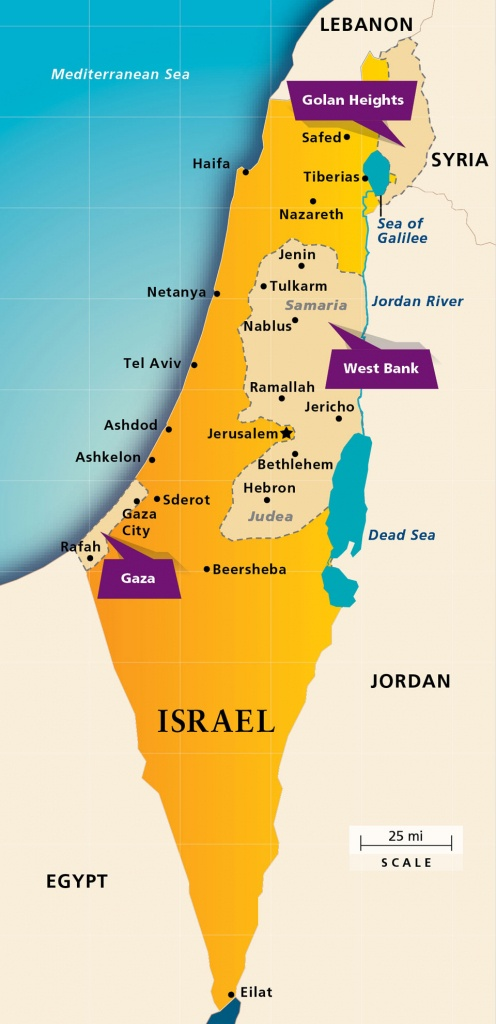 Maps: Israel Today | Aipac - Printable Map Of Israel