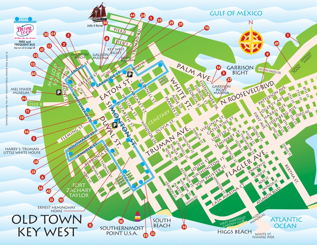 Maps, Key West / Florida Keys | Key West / Florida Keys Money Saving - Map Of Hotels In Key West Florida