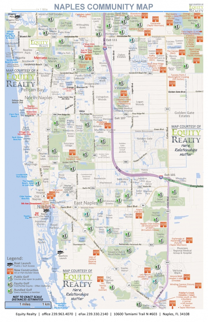 Maps - Map Of Bonita Springs And Naples Florida