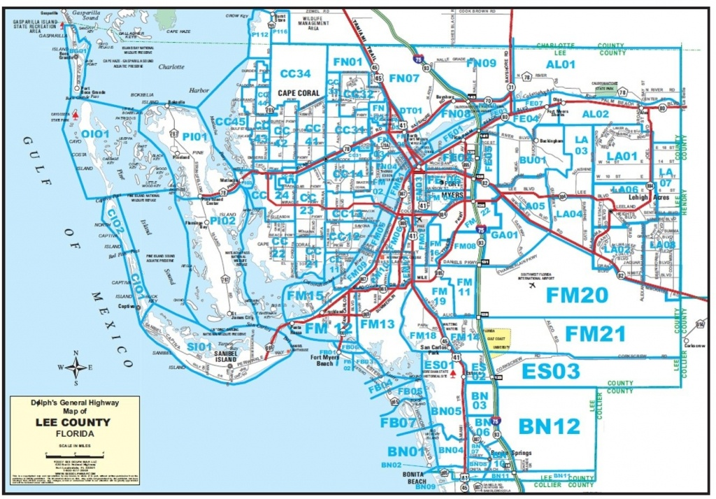 Maps - Map Of Lee County Florida