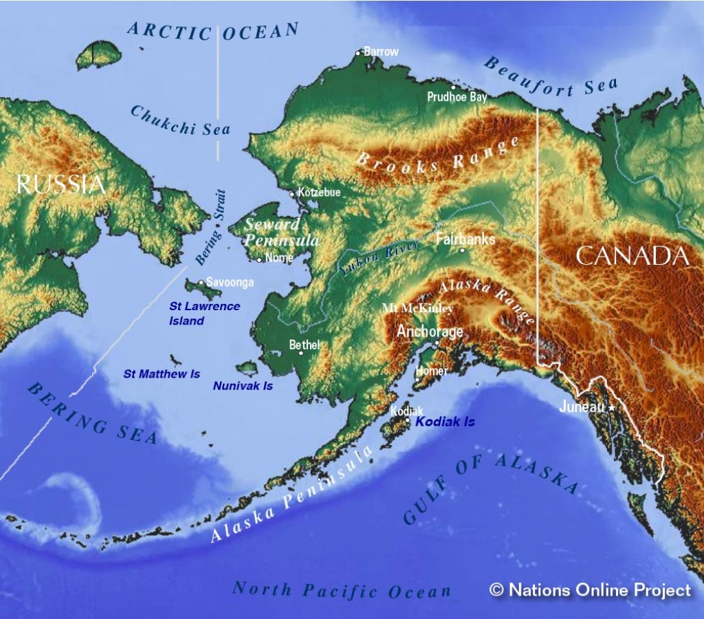 Maps Of Alaska State, Usa - Nations Online Project - Printable Map Of Alaska With Cities And Towns