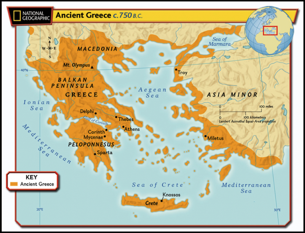 Maps Of Ancient Greece - 6Th Grade Social Studies - Ancient Greece Map For Kids Printables