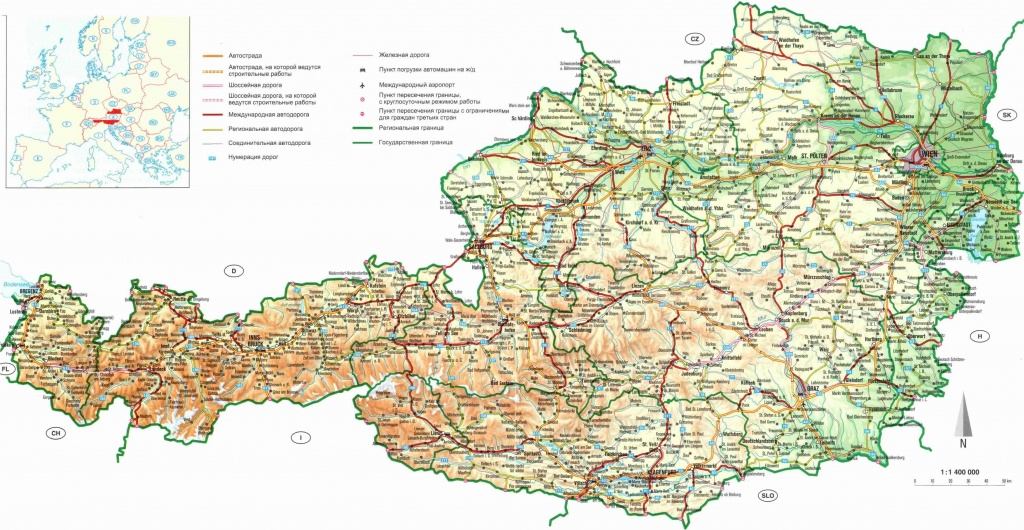 Maps Of Austria | Detailed Map Of Austria In English | Tourist Map - Printable Map Of Austria