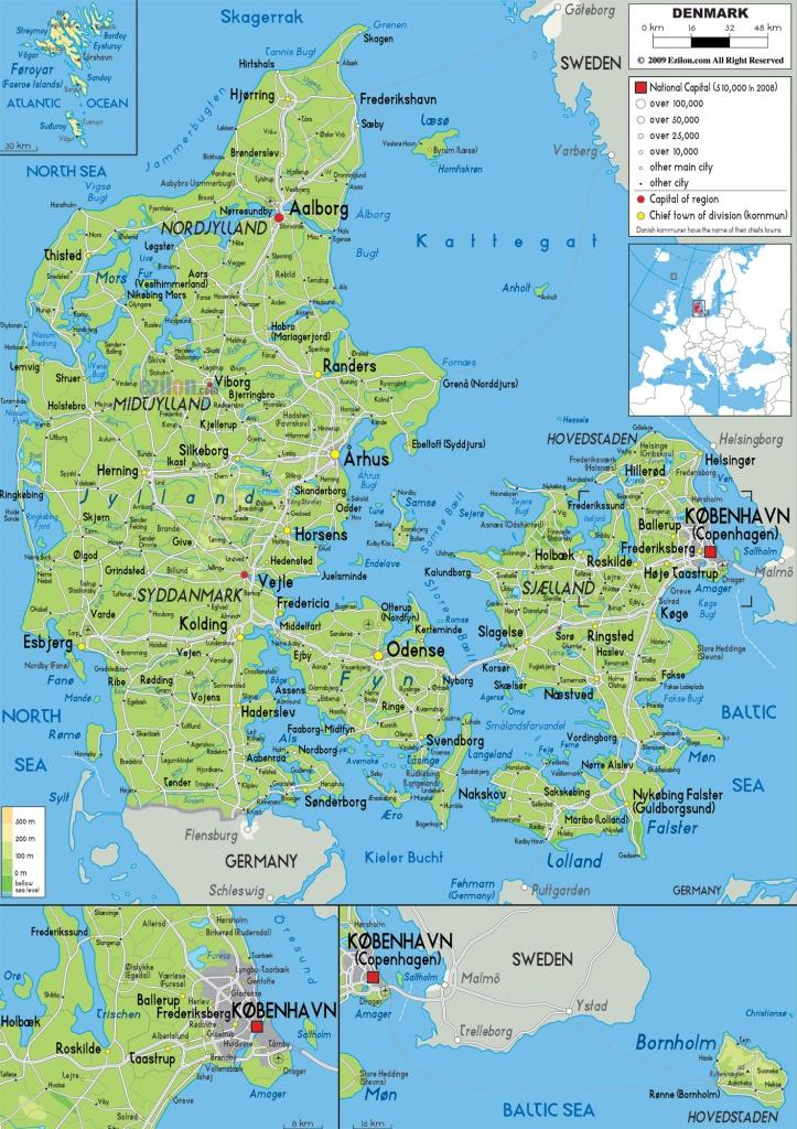 Maps Of Denmark   Detailed Map Of Denmark In English   Tourist Map - Printable Map Of Denmark